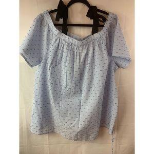 Motherhood Maternity: 100% Cotton Blouse Size: 2X